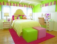 Girls Bedroom design idea as seen on www.interiordesignpro.org
