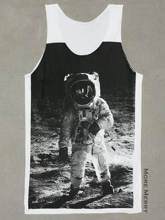Sleeveless Tanks Top Shirts Fit Men Astronaut Playing Rock