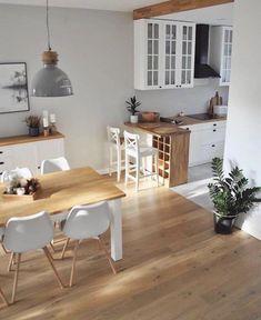 Decoration Appartement - Bright Idea - Home, Room, Furniture and Garden Design Ideas Home Decor Kitchen, Interior Design Kitchen, Home Kitchens, Kitchen Designs, Eclectic Kitchen, Kitchen Decorations, Studio Kitchen, Small Kitchens, Kitchen Modern