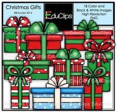 FREE Christmas Gifts Clip Art Bundle