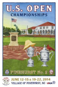 Golf Outfit S Women 2014 U. Opens Pinehurst No. 2 - Lee Wybranski's golf posters and prints have become associated with the greatest championships in the game, from the U. Open to the PGA Championship. Golf Attire, Golf Outfit, Mini Golf Near Me, Golf Bags For Sale, Golf Art, Golf Putters, Golf Humor, Top Videos, Ladies Golf