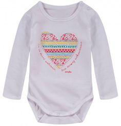 Ubranka dla niemowlaka: http://endo.pl/dla-niemowlaka Endo ubranka dla dzieci  Body z długim rękawem dla niemowlaka N52M003_1
