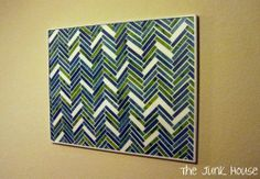 DIY art: All you need is scrapbook paper, glue, a poster board, and a cheap frame!