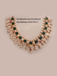 Jewellery Set With Jhumka Pearl Necklace Designs, Jewelry Design Earrings, Gold Earrings Designs, Gold Haram Designs, Gold Necklace, Gold Jewelry Simple, Gold Wedding Jewelry, India Jewelry, Accessories