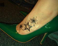 foot tattoos stars