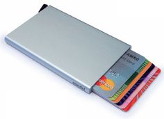 Reddot Award winning Card Protector, Very Slim Credit Card Holder / wallet with RFID protection, with one click all 6 cards slide out gradually