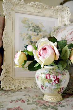 Roses in a floral vase