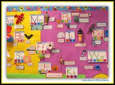 Literacy Display, Emergent Literacy, Preschool Literacy, Early Literacy, Name Activities, Alphabet Activities, Preschool Word Walls, Alphabet Words, Alphabet Art