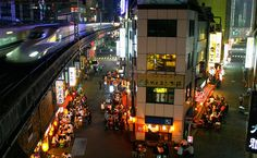 10. Yurakucho  Yurakucho is an old part of Tokyo that hasn't changed much for the last 70 years. Check out the tiny Izakaya under the railway tracks. It's Tokyo nightlife at its best.