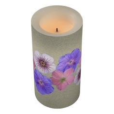 Floral Mix Botanical Garden Clear Led Candle