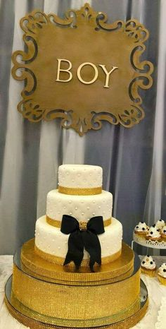 Gorgeous vintage baby shower party cake! See more party planning ideas at CatchMyParty.com!