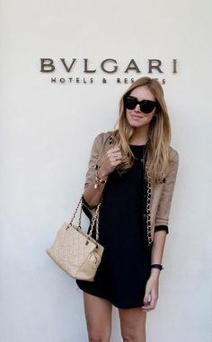 Chiara Ferragni at the Bulgari Hotel Milan ***