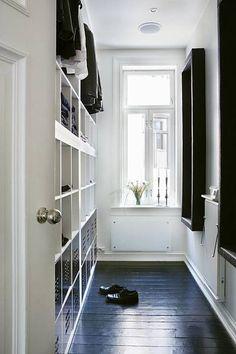 apartment diet | interiors, design & inspiration • walk in wardrobe genius - IKEA Hack using Ikea expedit shelves