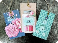 Gift tags with jewel