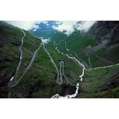 'The troll ladder' - one of the worlds most dangerous roads in Norway.. can't say I would drive this road!
