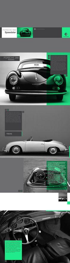 PB + cores + diagramação elegante    Porsche 356 Speedster interactive book by Martin Liveratore