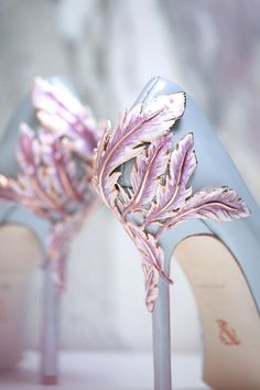 .Rose Quartz & Serenity wedding shoes.