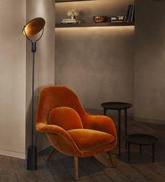 Rust:Terracotta Velvet Chair