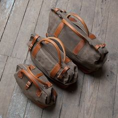 Wood and Faulk — Wood Northwesterner bag set. I LOVE the look of these!