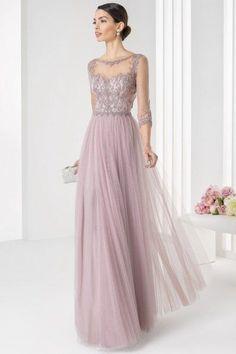 Nice Evening dresses Formal Bateau Beading Tulle 3/4-Length Sleeve Floor-length A-line Evening Dresse... Check more at http://24myshop.tk/my-desires/evening-dresses-formal-bateau-beading-tulle-34-length-sleeve-floor-length-a-line-evening-dresse/