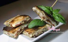 Sfoglia ripiena con funghi porcini prosciutto e formaggio - Torta salata