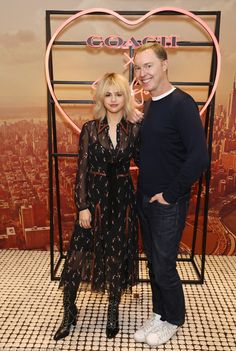 Charming company: The Wolves hitmaker proved to be every inch the social butterfly as she joined the Creative Director of Coach Stuart Vevers at the glamorous venue