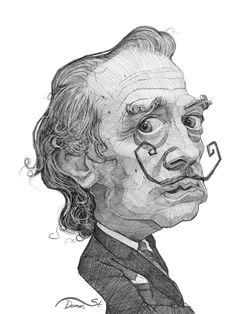 Salvador Dali illustration portrait by Stavros Damos, via Behance