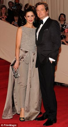 Livia Giuggioli is in Stella McCartney and actor Colin Firth was wearing Tom Ford