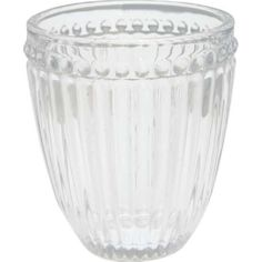 Wasserglas Alice clear von Greengate House Doctor, Alice, Punch Bowls, Thermal Flask, Water Glass, Decorating Jars, Drinking Glass, Glass Bottles, Drinking
