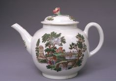 """CA. 1765  ENGLISH, WORCESTER    Soft paste porcelain, height 17cm (6 3/4"""") from top of domed lid, circumference around middle 43cm (17""""), Gift of Martha and Henry Isaacson, 76.158,    Provenance: Formerly in the Stieglitz Collection; collection of Mr and Mrs Henry and Martha Isaacson, unknown purchase date until 1976; gift from Mr and Mrs Henry and Martha Isaacson to Seattle Art Museum, Washington, 1976"""