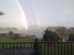 Beautiful rainbow on Cherokee Lake!