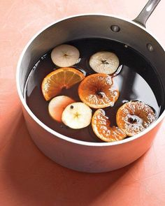 Mulled Cider Recipe: I made this last year from her magazine. So glad I found this- it's divine!