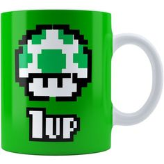 Caneca Super Mário Bros 1 UP Verde