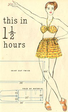 Quick & Easy Summer Wardrobe Patterns 1948:  sunsuit directions  plus other cute summer looks