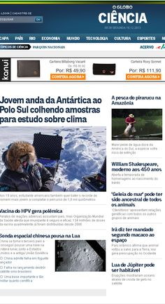 Título: Jovem anda da Antártida ao Polo Sul colhendo amostras para estudo sobre clima. Veículo: jornal O Globo. Data: 16/12/2013. Cliente: Willis Brasil.