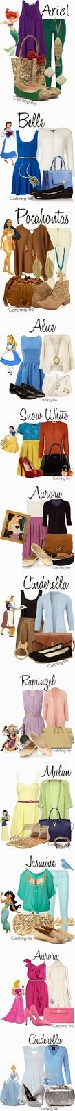 Teens Disney fashion inspiration   Fashion World. Love the last Cinderella one.