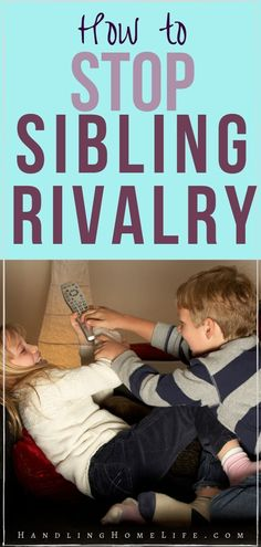 How to stop sibling rivalry and have peace in the family. Sibling fighting solutions and parenting tips to put an end to the sibling rivalry. What Is Parenting, Peaceful Parenting, Parenting Toddlers, Parenting Books, Gentle Parenting, Parenting Quotes, Parenting Advice, Practical Parenting, Natural Parenting