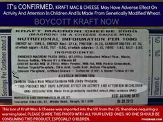 Illegal GMO Wheat in Kraft Mac