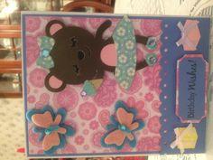 Happy Birthday card using Cricut Lite Twinkle Toes Cartridge