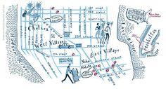 Map of New York - from mundosdomapas.art.br - the site of Nik Neves and Marina Camargo