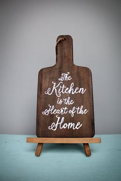 Custom Hand Lettered Kitchen Word Art, Urban Barn Home Decor, Hand Lettering, cutting board kitchen art, rustic cutting board decor, kitchen