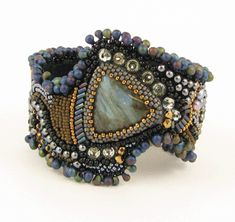 Sherry Serafini beaded embroidery bracelet. I just love this!