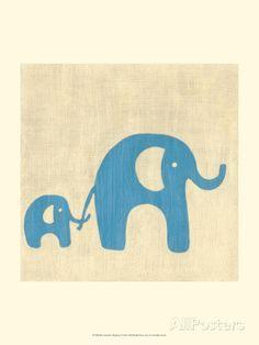 Best Friends - Elephants Giclee Print by Chariklia Zarris at AllPosters.com