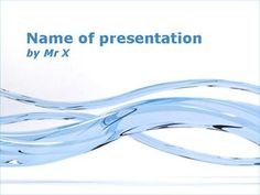 Blue Glass Curves Powerpoint Template