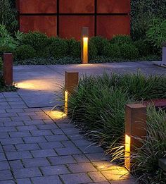 Rusty Slot 50 Exterior Bollard, SLV Lighting at Lightology