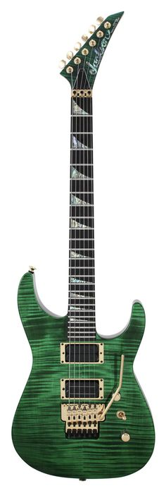 Jackson Custom Shop Select SL2H Flamed Maple Top Emerald Green
