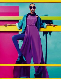 #dresscolorfully color blocked everything