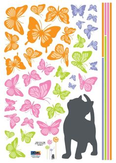 PCS D Black Butterfly Wall Stickers Art Decal PVC Butterflies -  custom pontoon decals