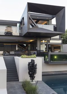 A Contemporary Residence In South Africa By Nico Van Der Meulen Architects - IGNANT - Kloof Road House www. Kloof Road House www. Kloof Road House www. Architecture Design, Residential Architecture, Amazing Architecture, Contemporary Architecture, Futuristic Architecture, Contemporary Houses, Futuristic Design, Modern Architecture Homes, Futuristic Houses
