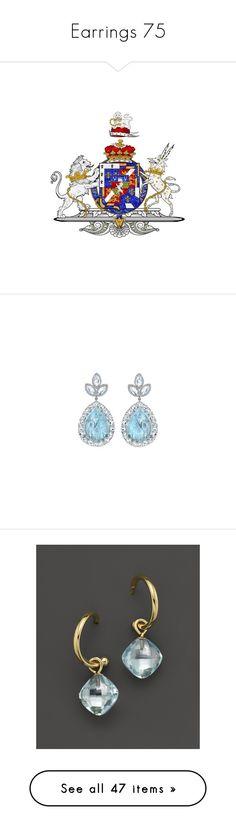 """Earrings 75"" by duchessq ❤ liked on Polyvore featuring jewelry, earrings, joias, irene neuwirth earrings, aquamarine jewellery, diamond jewellery, irene neuwirth jewelry, moonstone jewelry, blue and yellow gold earrings"